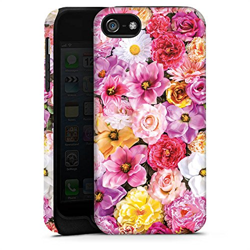 Apple iPhone X Silikon Hülle Case Schutzhülle Blütenmeer Blüten Blumen Tough Case matt