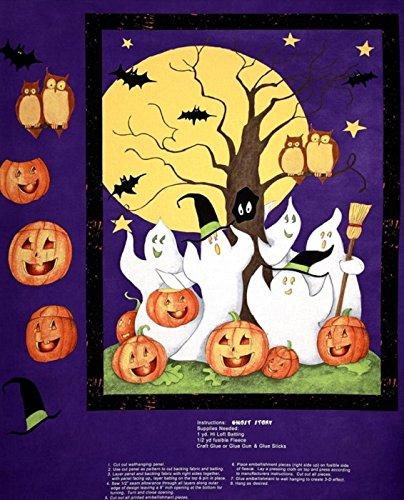 Ghost Story Halloween Panel Baumwolle Quilten Stoff–Steele Creek Studio (Stoff Halloween Quilten)