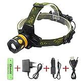 wolfway 2000lumen XM-L T6LED petlamp High Power hoofdlampen 1x 18650batterij rotate Zoom LED Hoofdlamp Waterdicht voor Camping Biking Working jacht Vissen Paardrijden