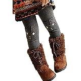 bobo4818 Kinder Mädchen Winter Leggings Bunny Printed dicke warme Fleece-Hosen für 2-7 Jahre