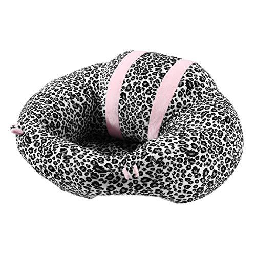 73JohnPol Tragbare Größe Komfortable Neugeborenen Baby, Kleinkind Baby Esszimmer Mittagessen Stuhl Sitz Sicherheit Baumwolle Plüsch Beine Fütterung Stuhl (Farbe: Leopard) -