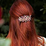 QueenMee Blume Haarspange Diamant Haarspange Blume Haarklammer Strass Haarschmuck Hochzeit