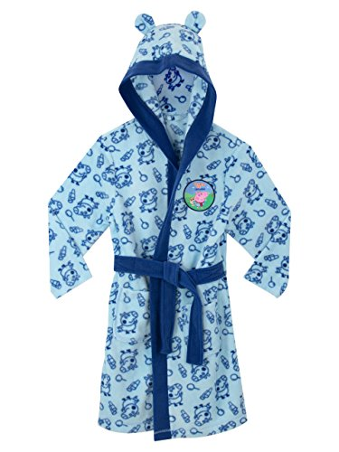 Peppa Pig George Pig Boys George Pig Dressing Gown Ages 18 Months To 8 Years