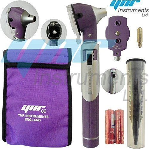 YNR ® Compact Purple F.O Opthalmoscope,ophthalmoscope,Otoscope ENT Diagnostic Set....