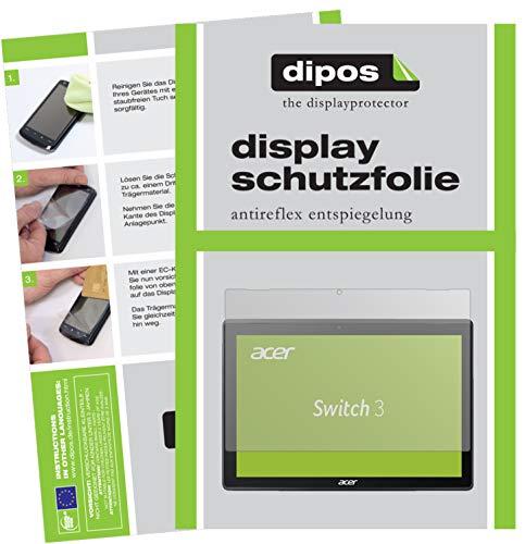 dipos I 2X Schutzfolie matt passend für Acer Switch 3 SW312-31-P7SF Folie Bildschirmschutzfolie