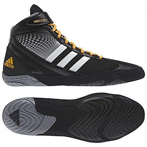 Adidas Response 3.1 Wrestling Chaussures - Noir / gris / blanc / or solaire - 5 black/grey/white/solar gold