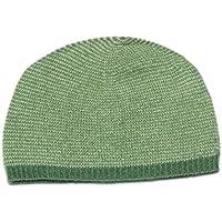 Cappellino 100% Cashmere per bambini, 2 Cappuccio Mongoliano PLY 26% Cotone Maglia, Verde, Neonato 6-18 mesi  Moksha Cashmere