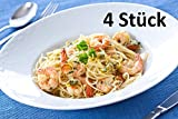 Pastateller PAG Gourmet, Ø 30,5cm, Porzellan, weiß, für Pasta, Salat, Dessert, Suppen (4 Stück)