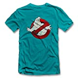 Ghostbusters Vintage T-Shirt Tuerkis-Turquoise M