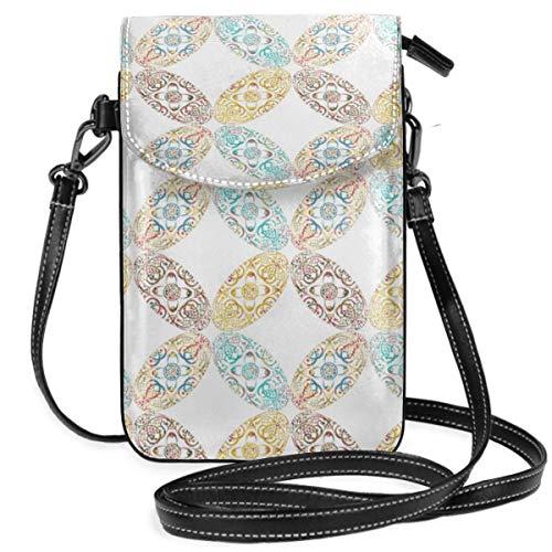 Suminla-Home Kleine Handybörse Umhängetasche Handtasche Sprudla Ellipse All Tilt Smartphone Geldbörse mit abnehmbarem Riemen Tilt Smartphone