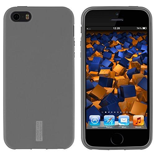 mumbi TPU Silikon Schutzhülle für iPhone SE 5S 5 Hülle in schwarz grau