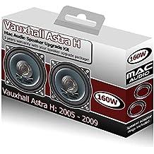Opel Astra H Mac Audio Juego de altavoces para puerta trasera coche altavoces 160W + adaptadores