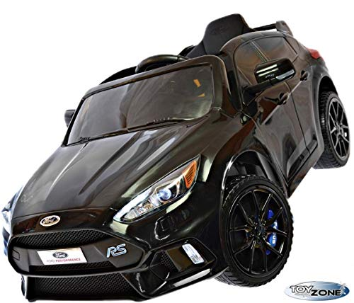 ToyZone Kinderfahrzeug 12V Kinderauto Kinder Elektro Auto Ford Focus RS MP3 USB Ledersitz Eva Gummiräder 2,4 GHZ
