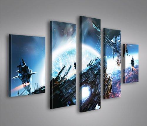 islandburner Bild Bilder auf Leinwand Wars V4 MF Star XXL Poster Leinwandbild Wandbild Dekoartikel Wohnzimmer Marke