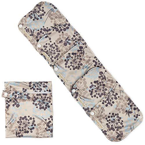 Bamboo Barn: Wiederverwendbare Bambus-Tuch Damenbinden – Menstruations-Hygienetücher CSP mit Flügeln – Waschbare Slipeinlagen – Leichte / Reguläre / Mittlere Stärke + Beutel für benutzte Binden