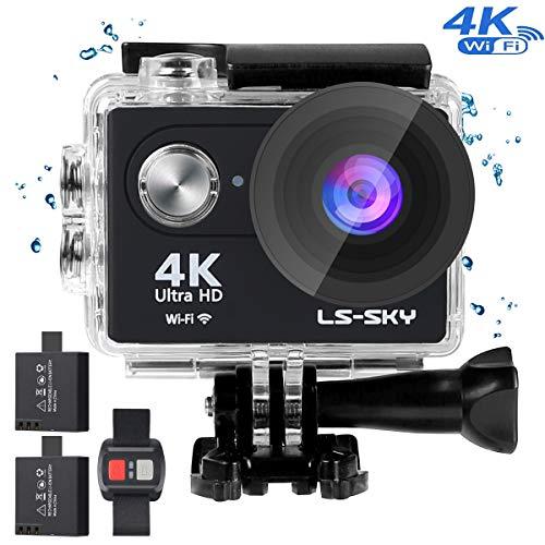LS-SKY Camera Sport 4k Action Caméra Wi-FI 16MP Caméra étanche Full HD 1080P avec capteur Sony/Télécommande