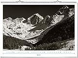Wandkalender: Poesie der Berge 2019. Schwarz-Wei?, Format 70 x 50 cm