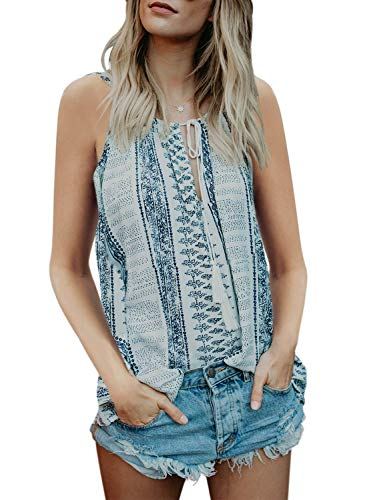 Bobopai Women's Summer Casual Loose V Neck Chiffon Button Down Spaghetti Strap Cami Vest Solid Color Floral Striped Tank Tops Sleeveless Shirt Blouse -