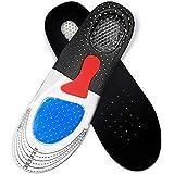 نعل داخلي من الجل لاحذية الركض الرجالي بتصميم مثبت على وسادة بتقوس دعم لتقويم العظام والعناية بالقدم