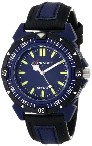 Sector Expander - R3251197035 - 90 - Montre Homme - Quartz Analogique - Cadran Bleu - Bracelet Tissu Noir