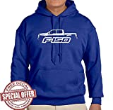 Hoodie Adult 2015 17 Ford F150 Pickup Truck Classic Outline Design Sweatshirt