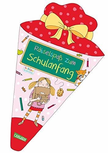 Schlau für die Schule: Rätselspaß zum Schulanfang (Schultüte für Mädchen): Malen und Rätseln für den Schulstart