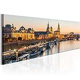 murando Bilder Dresden 135x45 cm - Vlies Leinwandbild - 1 Teilig - Kunstdruck - Modern - Wandbilder XXL - Wanddekoration - Design - Wand Bild - Stadt Dresden d-B-0162-b-a