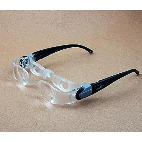Baja visión gafas portátil lupas cabeza lupa lectura Lupa lente joyería lupa-gafas de lectura