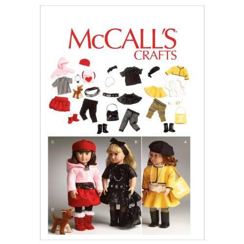 McCall's, Cartamodelli 6669 per Abiti da Bambola Fino a 45 cm