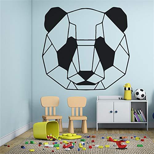 zhuziji Cartoon Panda Muster Wandaufkleber Kinderzimmer Dekoration Vinyl Dekorative Tapete Abnehmbare Art Decor Wand Stick