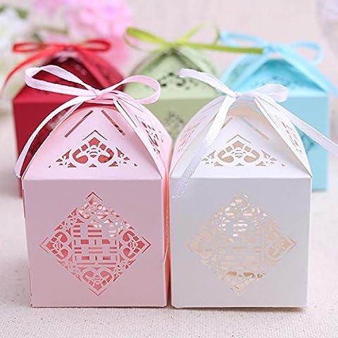 XHDWNBM 20 Pcs Zucchero di nozze il vassoio della cartuccia piccola confezione regalo di nozze scatola regalo Hei Hei Sugar sacchetto scatola regalo di Natale Box , Medio , bianco 19