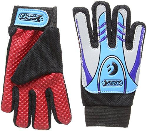 Sports Torwarthandschuhe, Rot/Blau/Schwarz, Größe 5