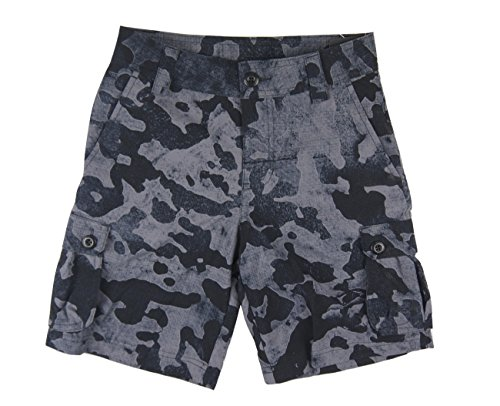 Camo Armour Golf Under (Big Boy's UA Scatter gewebte Golf Cargo Shorts (klein, schwarz / Stealth Grey Camo (001)))