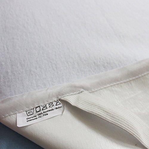 sinnlein Wasserdichte atmungsaktive Molton Betteinlage 11 Größen wählbar 100 Prozent Baumwolle Matratzenschoner Matratzenauflage (60x120cm) - 2