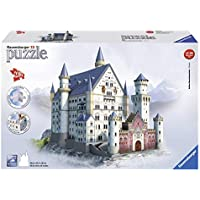 Ravensburger 12573 Schloss Neuschwanstein, 3D-Puzzle-Bauwerke, 216 Teile