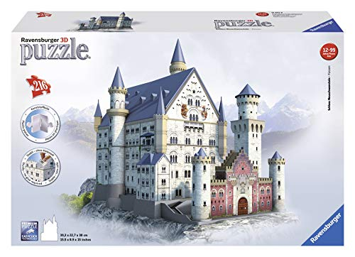 Ravensburger italy- puzzle 3d castello di neuschwanstein, 216 pezzi, 12 anni +, 125739