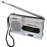 Masterein BC-R21 Mini Radio Portable AM Radio FM Antenne télescopique de Poche récepteur Mondial Haut-Parleur de la Batterie Powered