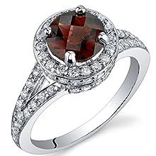 Majestic Sensation 1.50 Carats Garnet Ring in Sterling Silver Size J