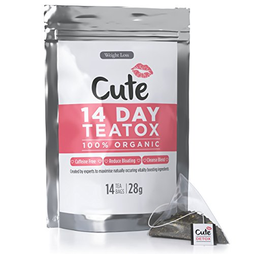 51J53Yw7VcL - BEST BUY #1 14 Day Teatox - Great Tasting Premium Organic Vegan Detox Tea Bags - Caffeine and Laxative Free - Best Herbal Appetite Suppressant for Weight Loss, Body Cleanse and Bloating - Free Detoxing Guide eBook Reviews uk