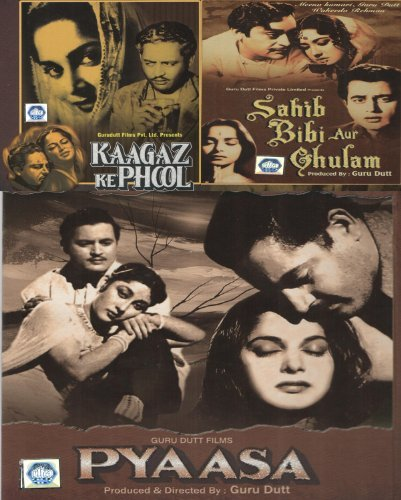 Preisvergleich Produktbild Guru Dutt Set of 3 DVD Collection (Kaagaz Ke Phool / Pyaasa / Saheb Biwi Aur Ghulam) by Guru Dutt