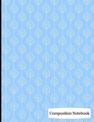 : Blue Lollipops Composition Notebook - 8.5