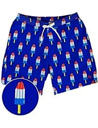 3622806033c6 Tipsy Elves Men s Patriotic USA Red White and Blue Swim Trunks - American  Flag Swim Suit