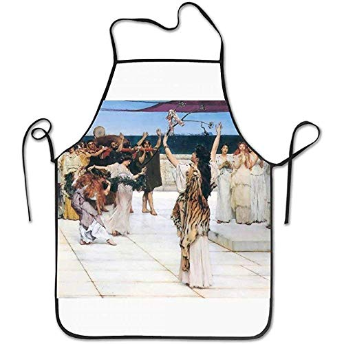 ouyjian Server Aprons X Classic Art Lawrence Alma-Tadema Ancient Greece Deluxe Cute Aprons Chef Kitchen Cooking and Men & Women Baking Bib BBQ Apron