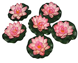 POLLINATION LIGHT PINK SMALL FLOATING LOTUS ARTIFICIAL FLOWERS