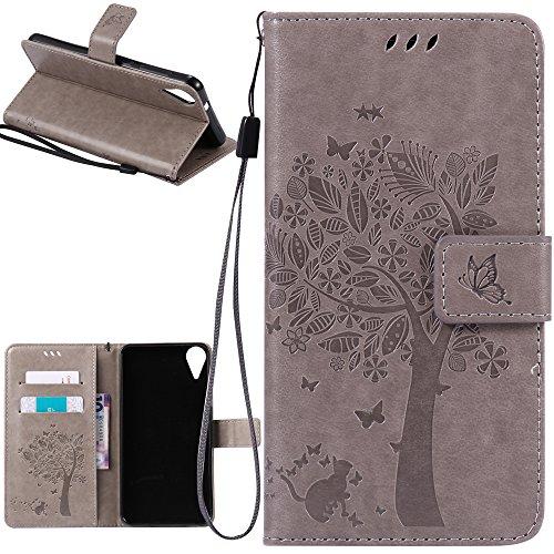 Dooki, HTC Desire 825 /HTC Desire 10 Life Style Hülle, Ständer Brieftasche Flip PU Ledertasche Schutzhülle für HTC Desire 825 mit Kredit Kartenfächer