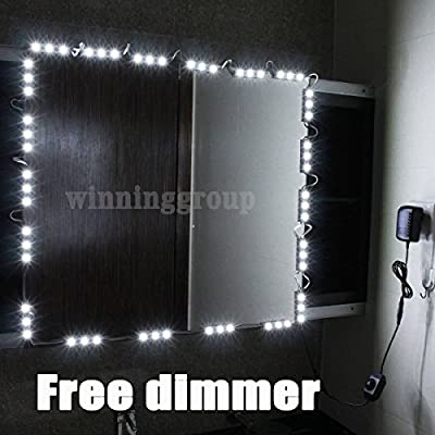 Mirror LED Light for Hollywood Makeup Mirror Vanity Mirror with Lights with Dimmer 5ft 10ft produced by Tochic - quick delivery from UK.