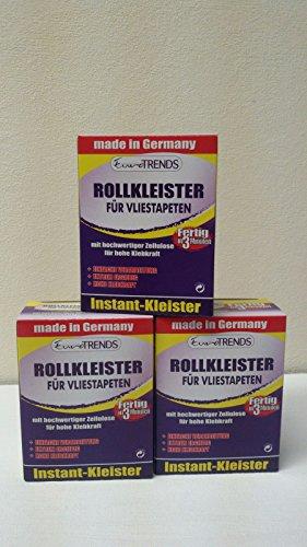 Kleister Vliestapeten Bestseller 3 Pakete x 200 gr Vlies Tapeten