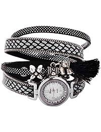 Mehrunnisa Analogue Black & Silver Dial Girl's & Women's Watch (JWL1759)