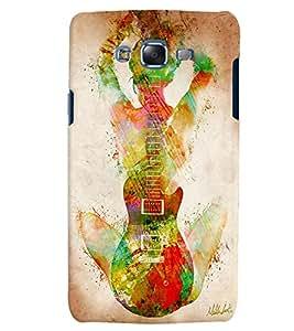 Citydreamz Guitar/Music/Instruments/Girl Hard Polycarbonate Designer Back Case Cover For Samsung Galaxy J3