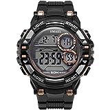 Blisfille Uhren Männer Wasserdicht Wasserdicht Herrenuhr Schwarz Gold Outdoor Sportuhr Armbanduhr Automatikuhr